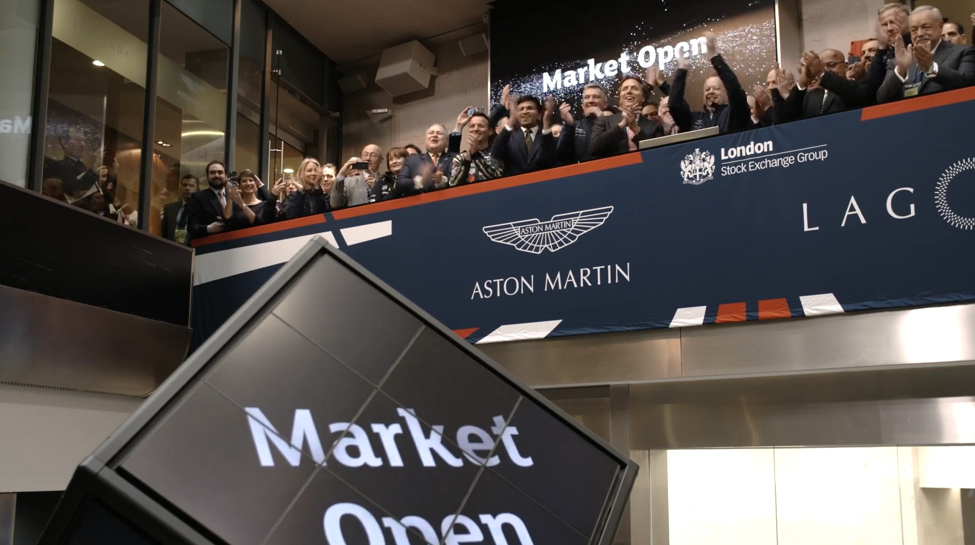 london stock exchange welcomes aston martin lagonda to the main