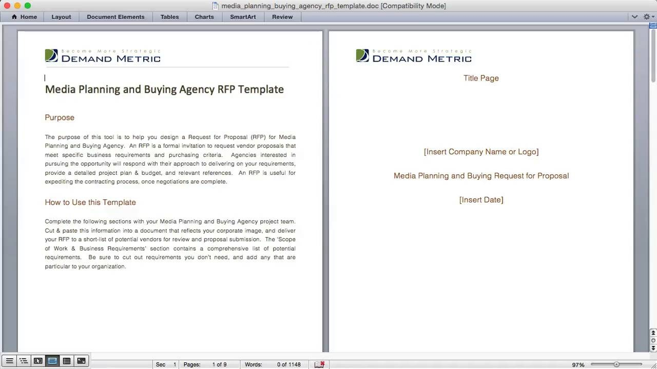 media planning and buying agency rfp template demand metric