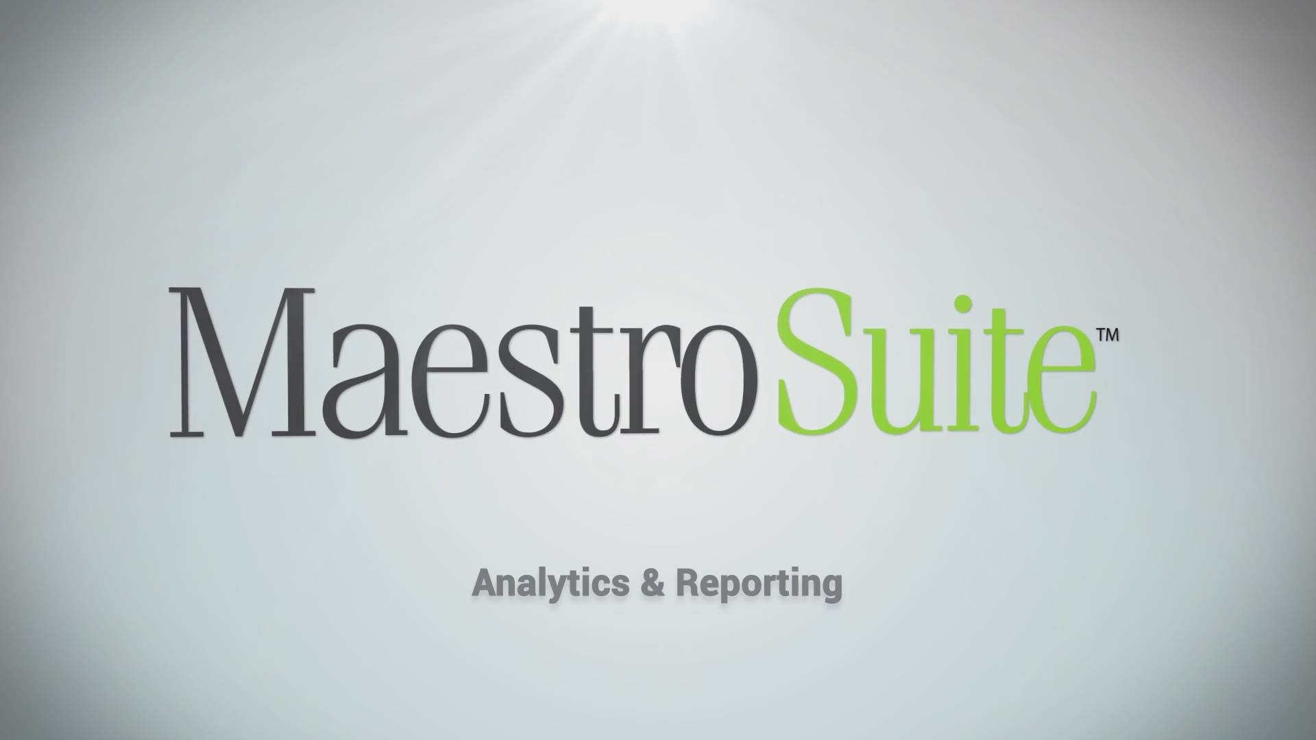 Business Analytics And Financial Reporting With Maestro Suite