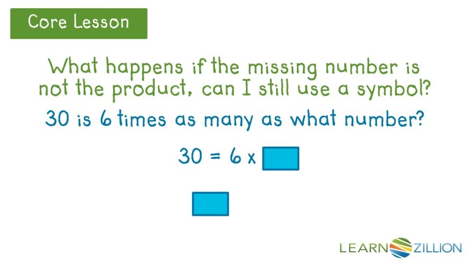 Represent Unknown Numbers Using Symbols Or Letters Learnzillion