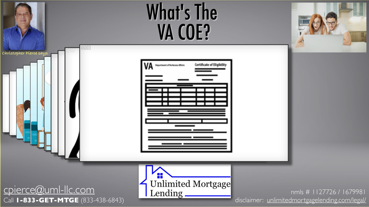 What Is A Certificate of Eligibility, or COE? Unlimited Mortgage Lending