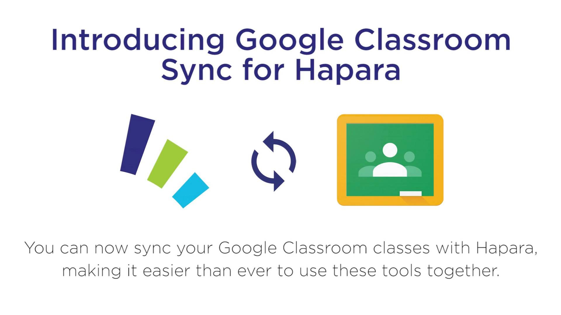 Wistia video thumbnail - Introducing Google Classroom Sync for Hapara