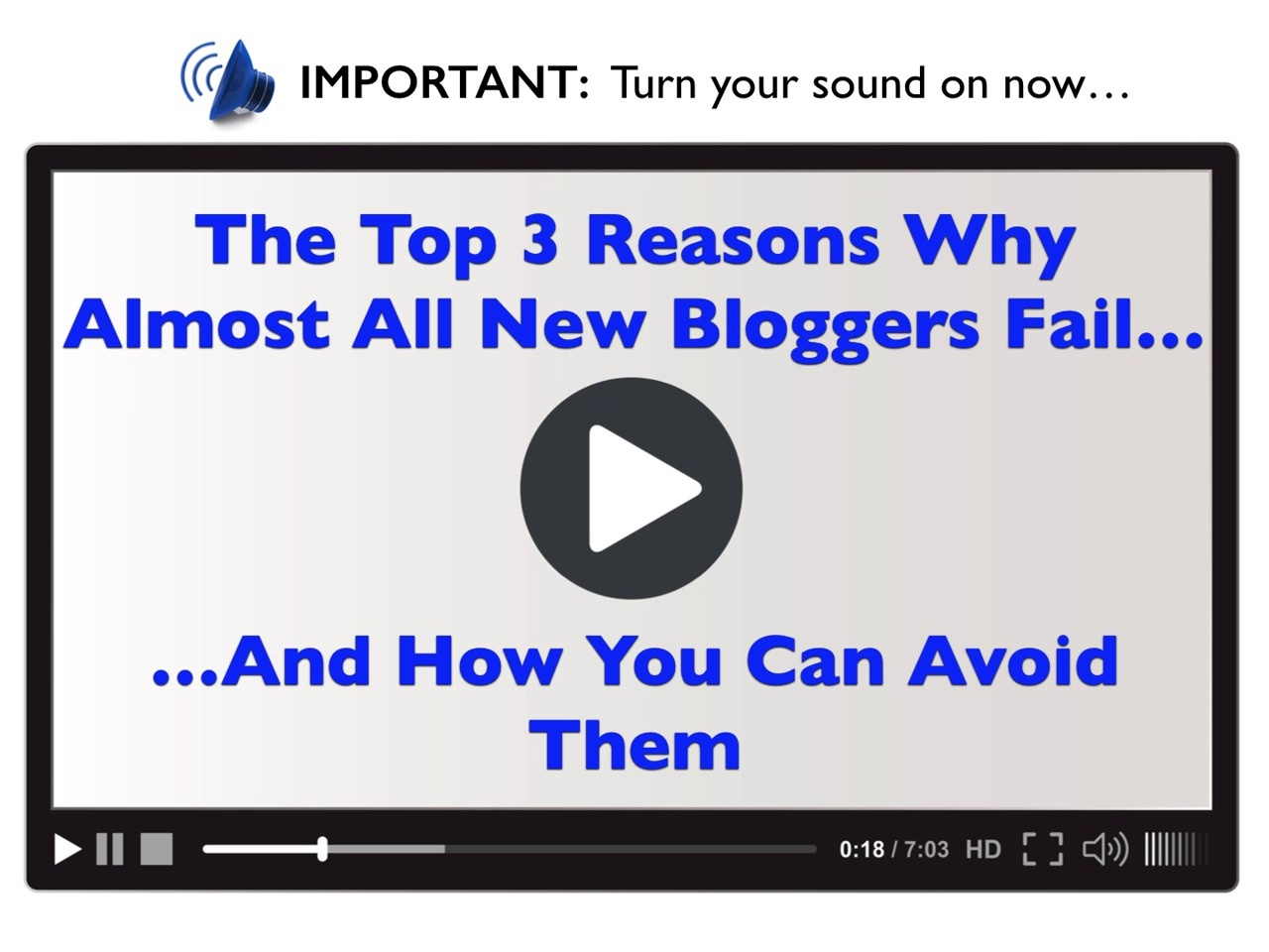 BlogPress - Top 3 Reasons Why Almost All Bloggers Fail