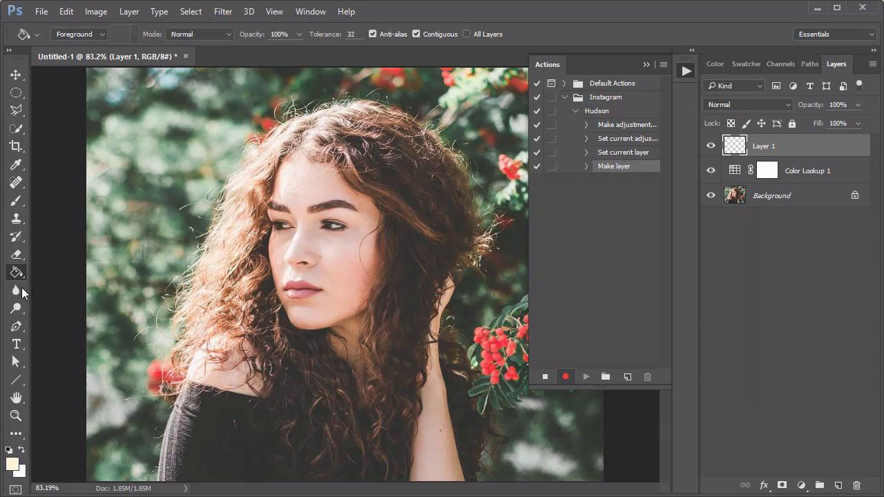 How to create an instagram filter photoshop action in 60 seconds ccuart Gallery