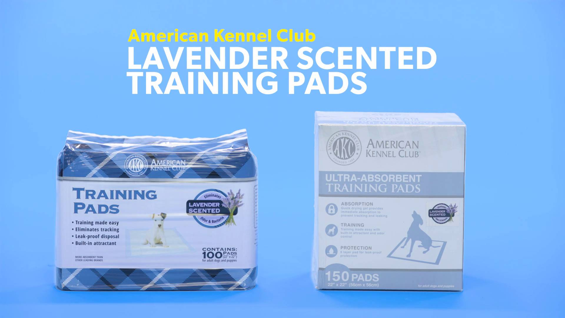 American Kennel Club Lemon Scented Training Pads Pack of 100