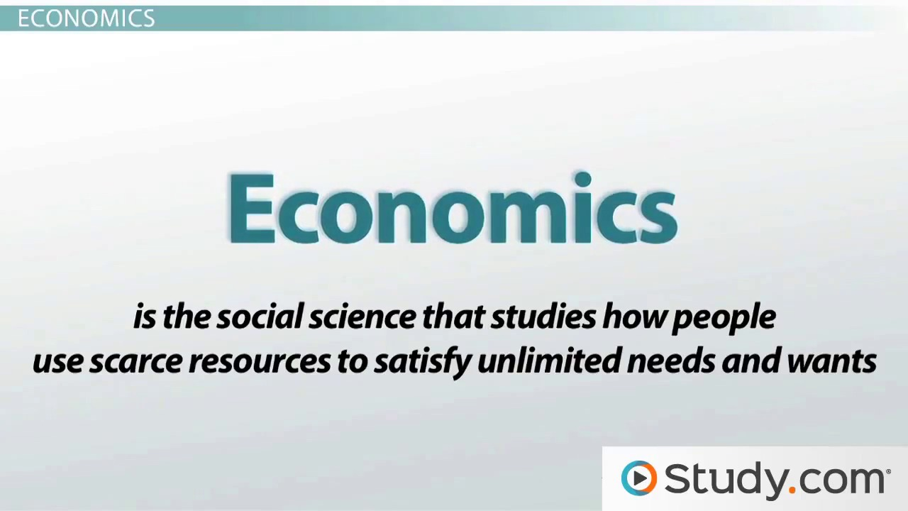 a study on economics and scarcity C scarcity we have already decided that economics is a study of choices, either collective societal choices or more individualized choiceshowever, what is it about the real world that requires that we make choices.