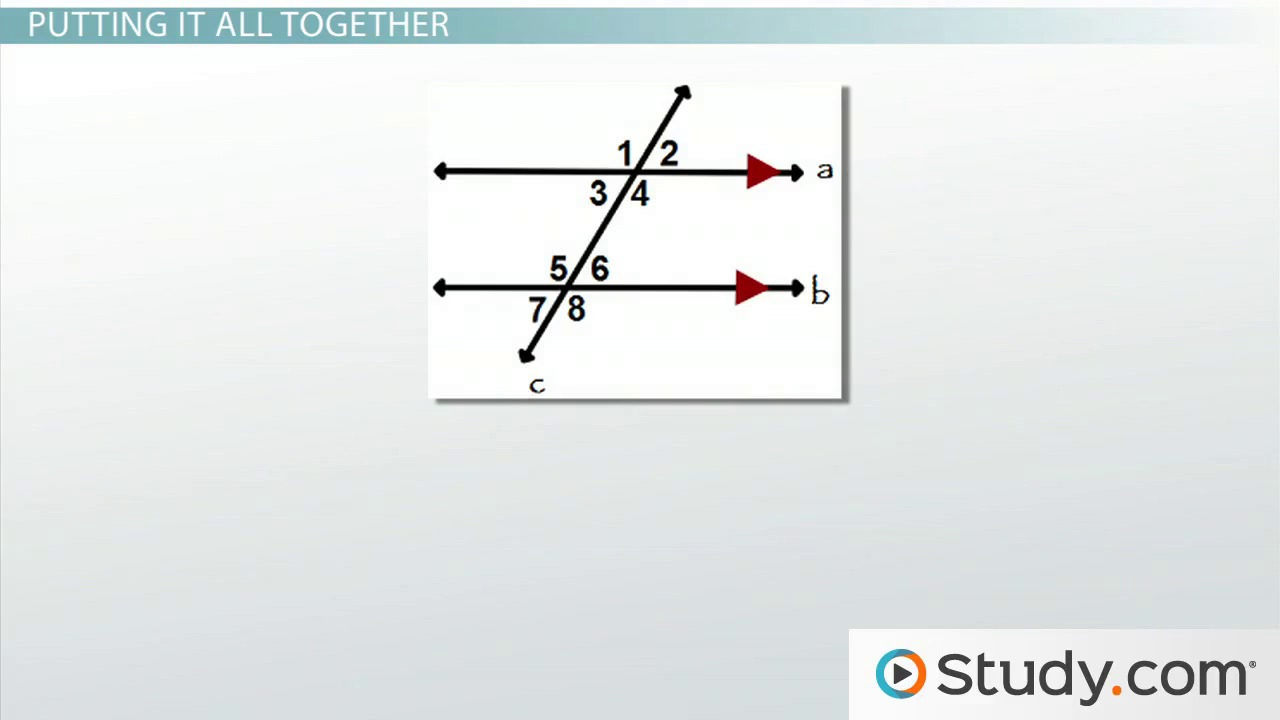 Workbooks parallel perpendicular and intersecting lines worksheets : Types of Angles: Vertical, Corresponding, Alternate Interior ...