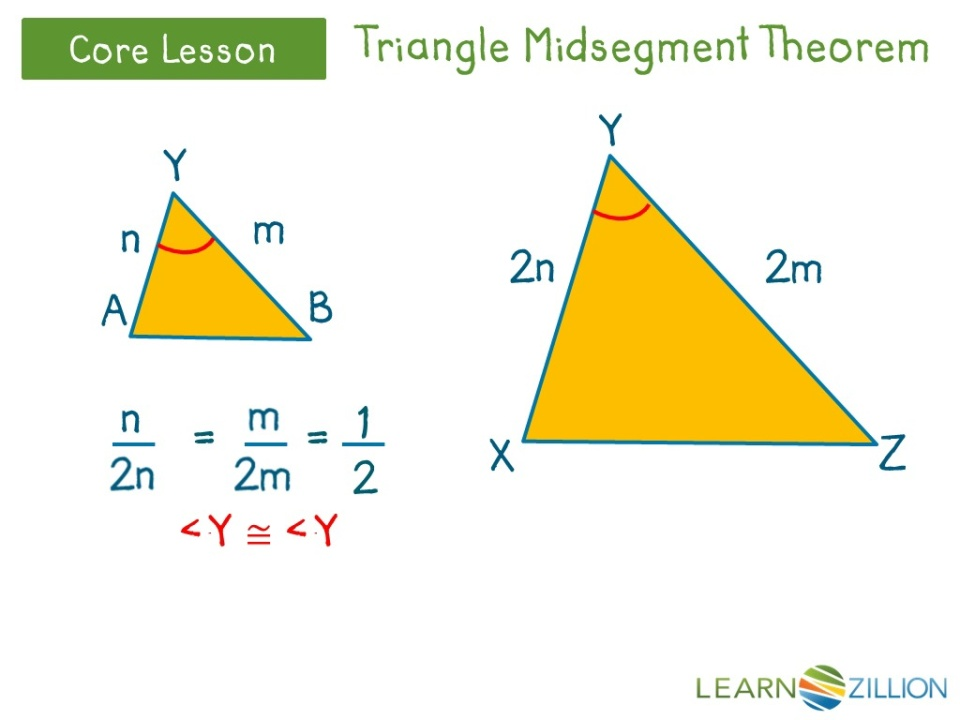 Understand The Triangle Midsegment Theorem By Using Constructions