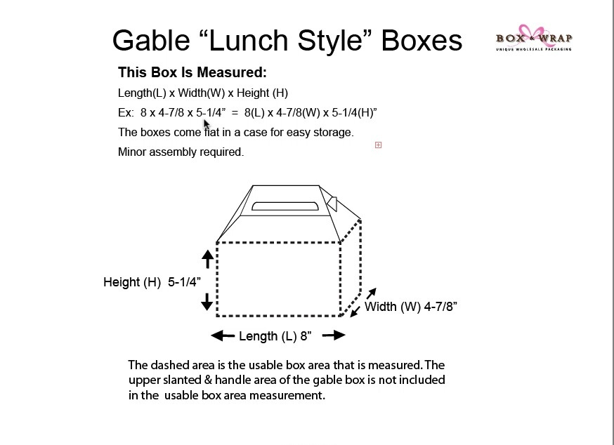 measuring guide gable boxes box and wrap