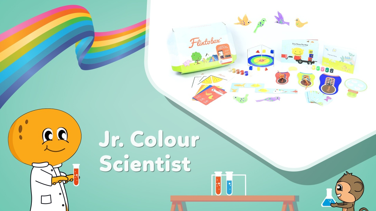Jr. Colour Scientist - Activity Box for Preschoolers | Flintobox