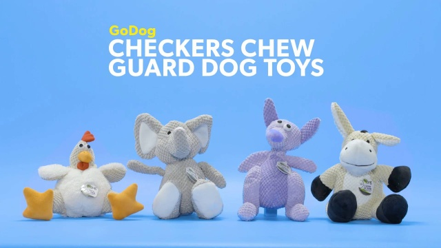 bc8992760e3e GoDog Checkers Chew Guard Elephant Dog Toy, Large - Chewy.com