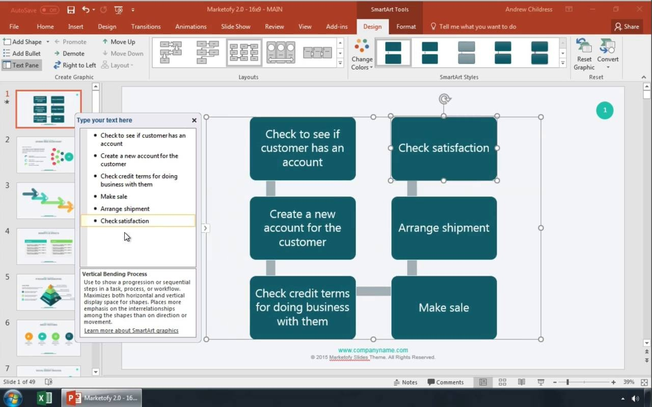 How To Make A Flowchart In Powerpoint With Templates Process Flow Diagram Designer Video Thumbnail