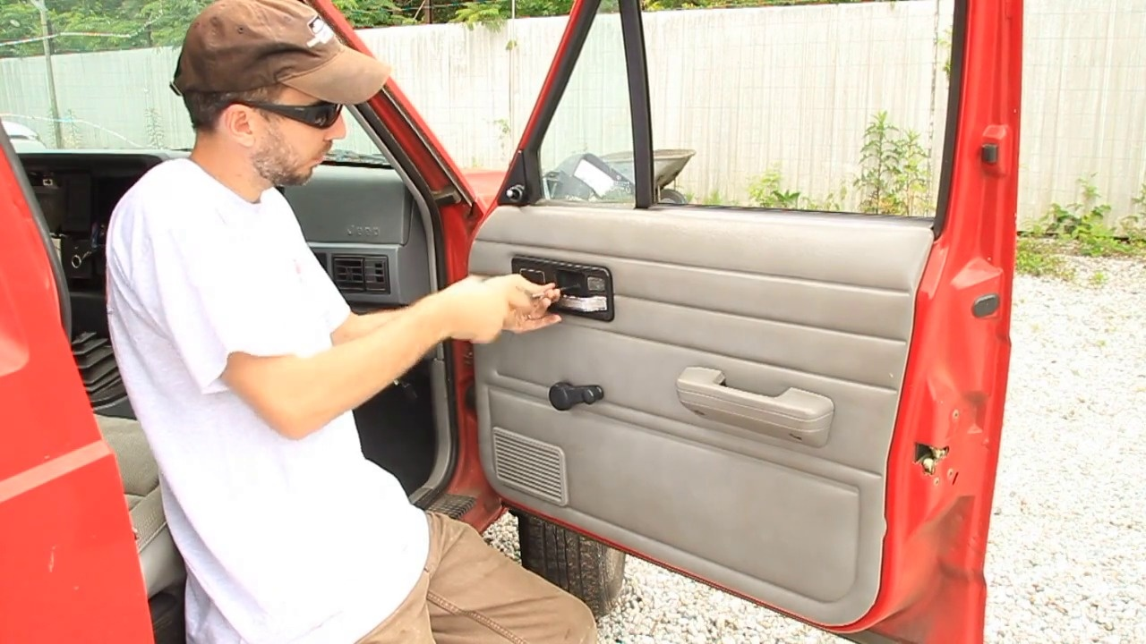 How to Remove a Jeep Interior Door Panel: Jeep Cherokee 1984-2001