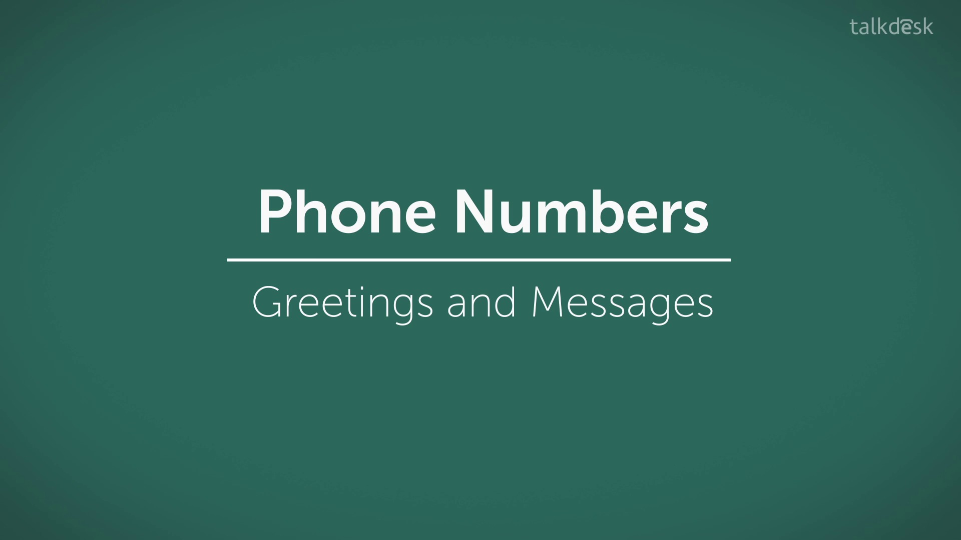 Greetings and messages talkdesk support m4hsunfo