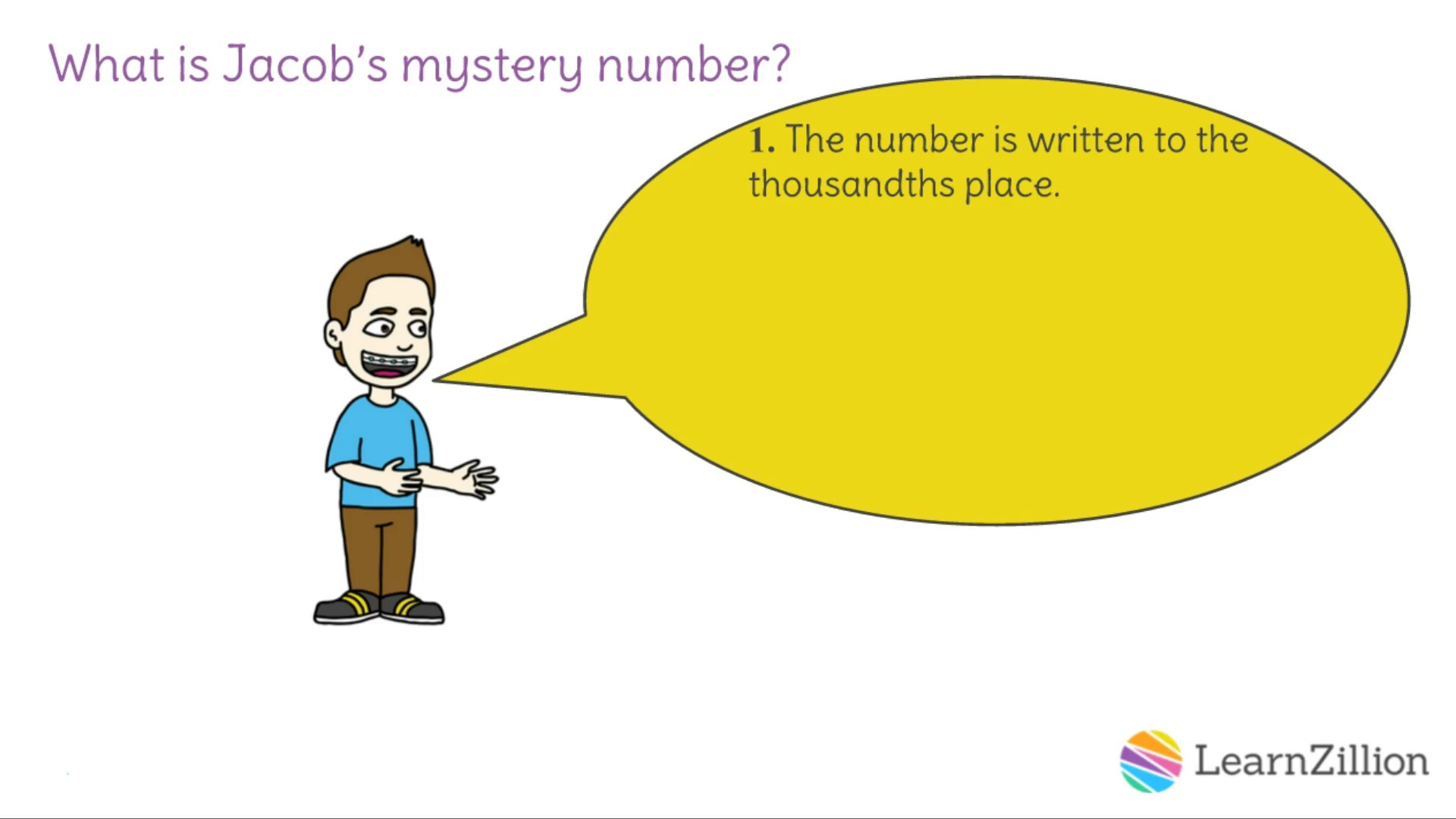 worksheet Mystery Number 10 mystery number using understanding of place value to round decimals in word problems a learnzillion