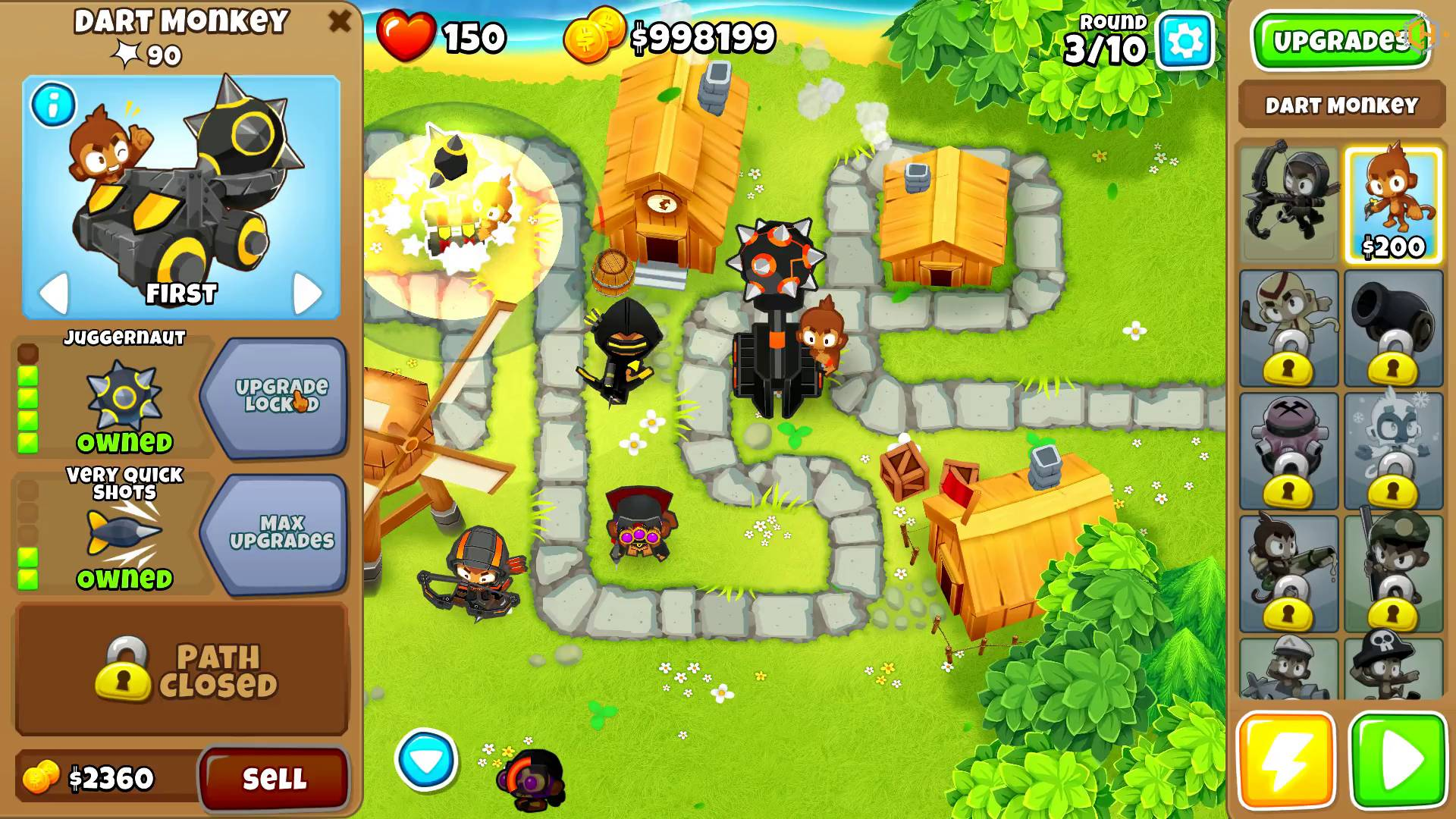 bloons tower defense 4 hacked everything unlocked and infinite money