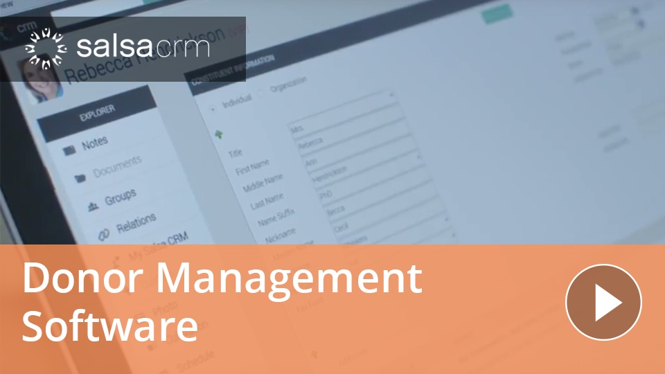 Wistia video thumbnail - Donor Management in Salsa CRM
