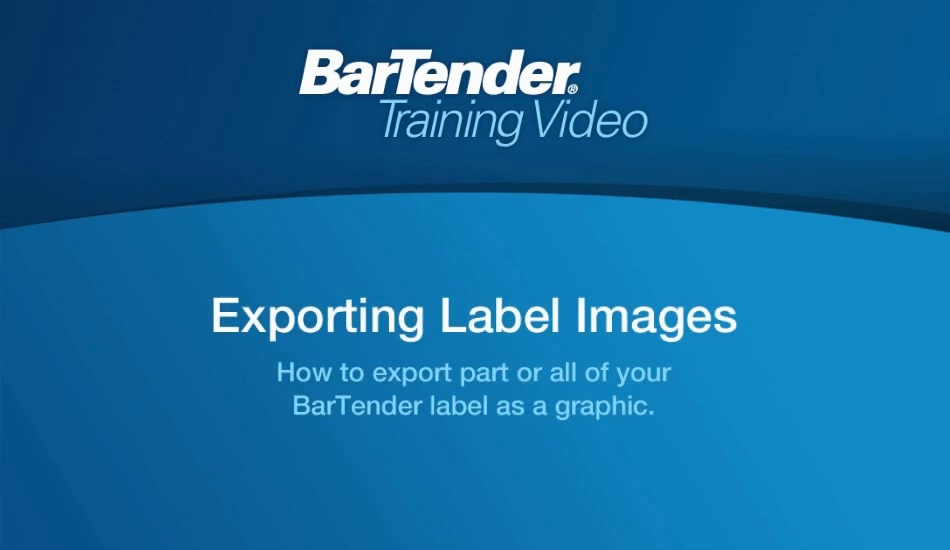 Exporting Label Images from BarTender