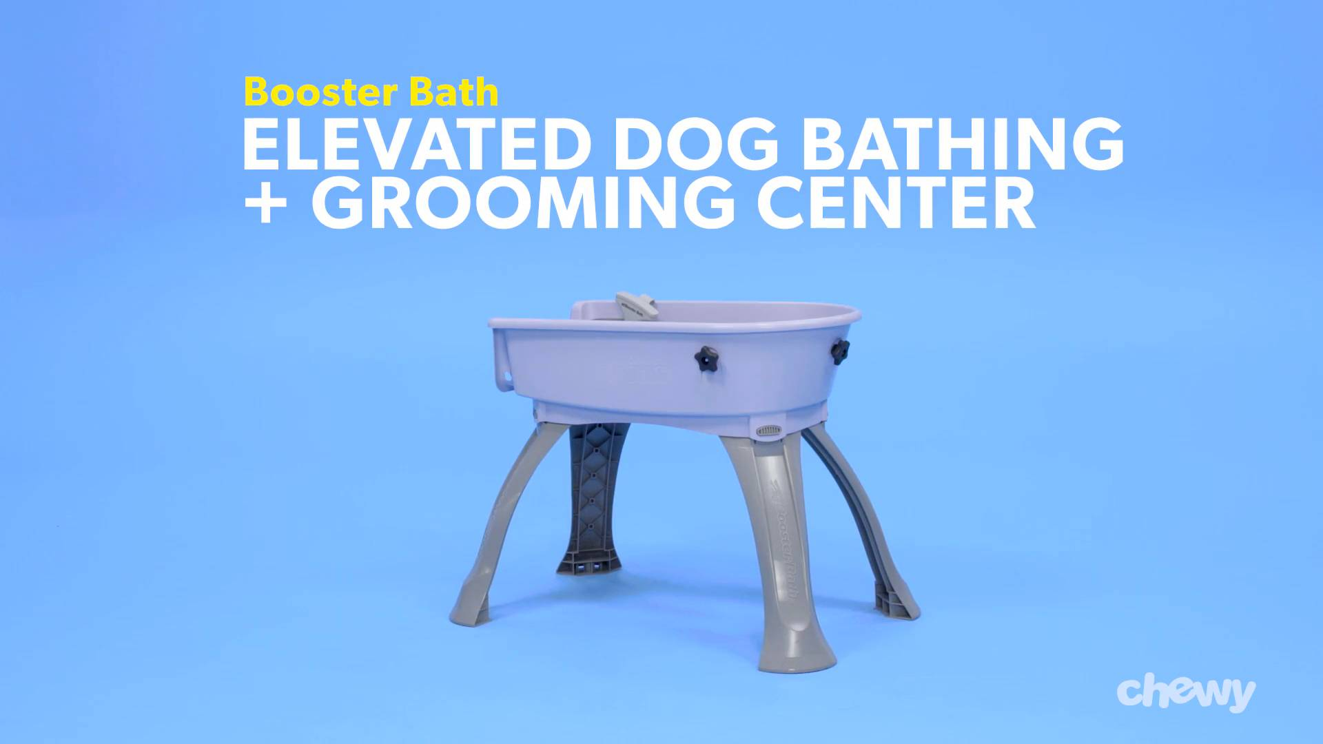 Booster Bath Elevated Dog Bathing and Grooming Center, Large, Teal ...