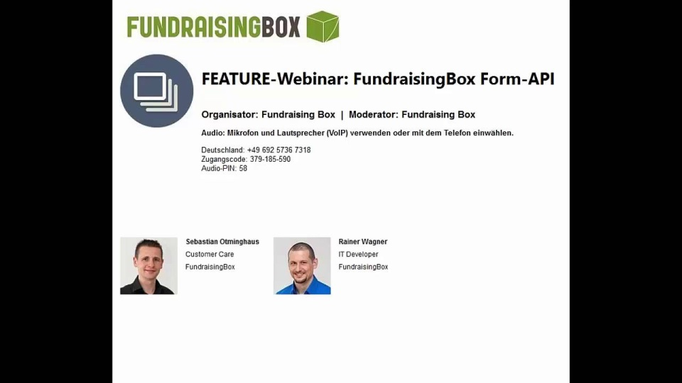 Wistia video thumbnail - FEATURE-Webinar FundraisingBox Form-API (German)