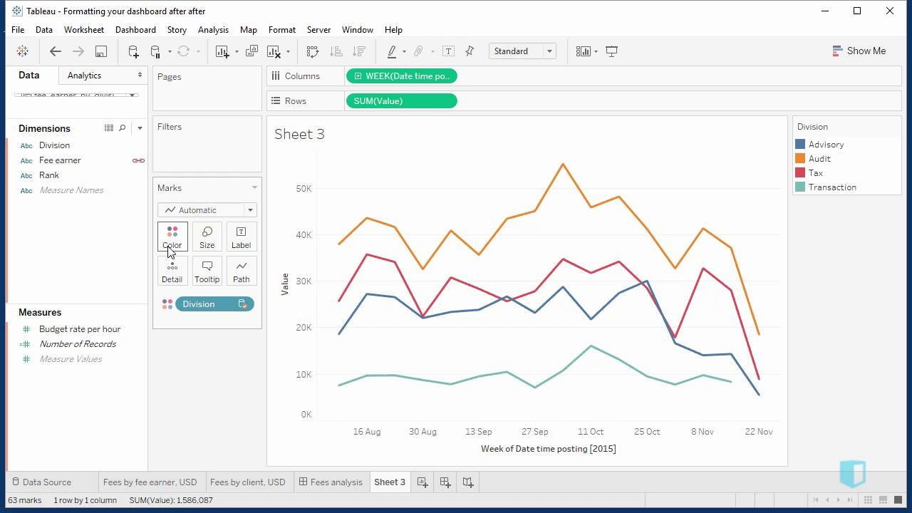 Visualising Data Over Time | Online Tableau Training | Kubicle