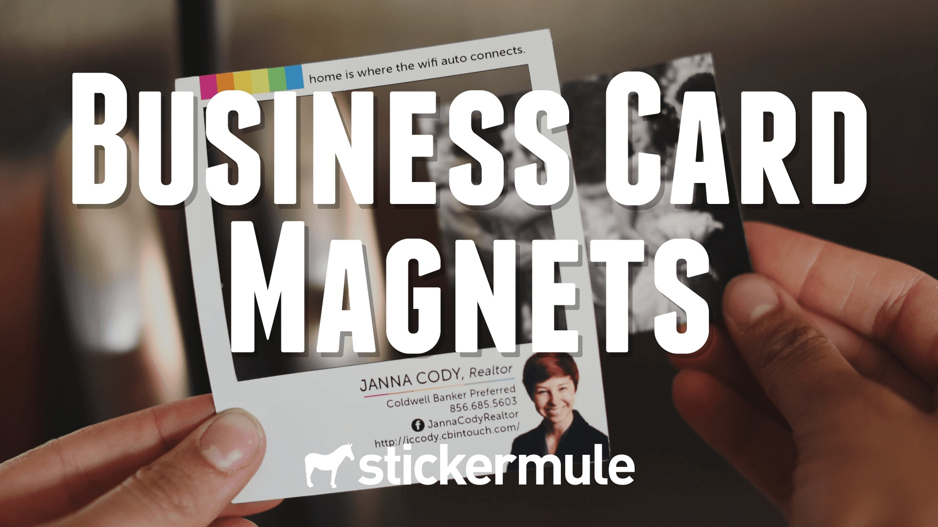 business card magnets sticker mule