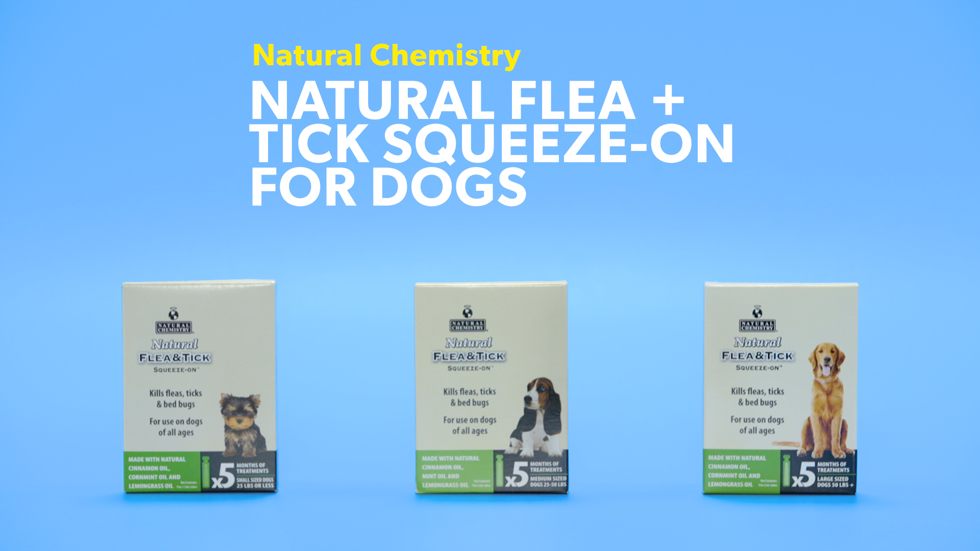 natural chemistry natural flea u0026 tick squeeze on for dogs small