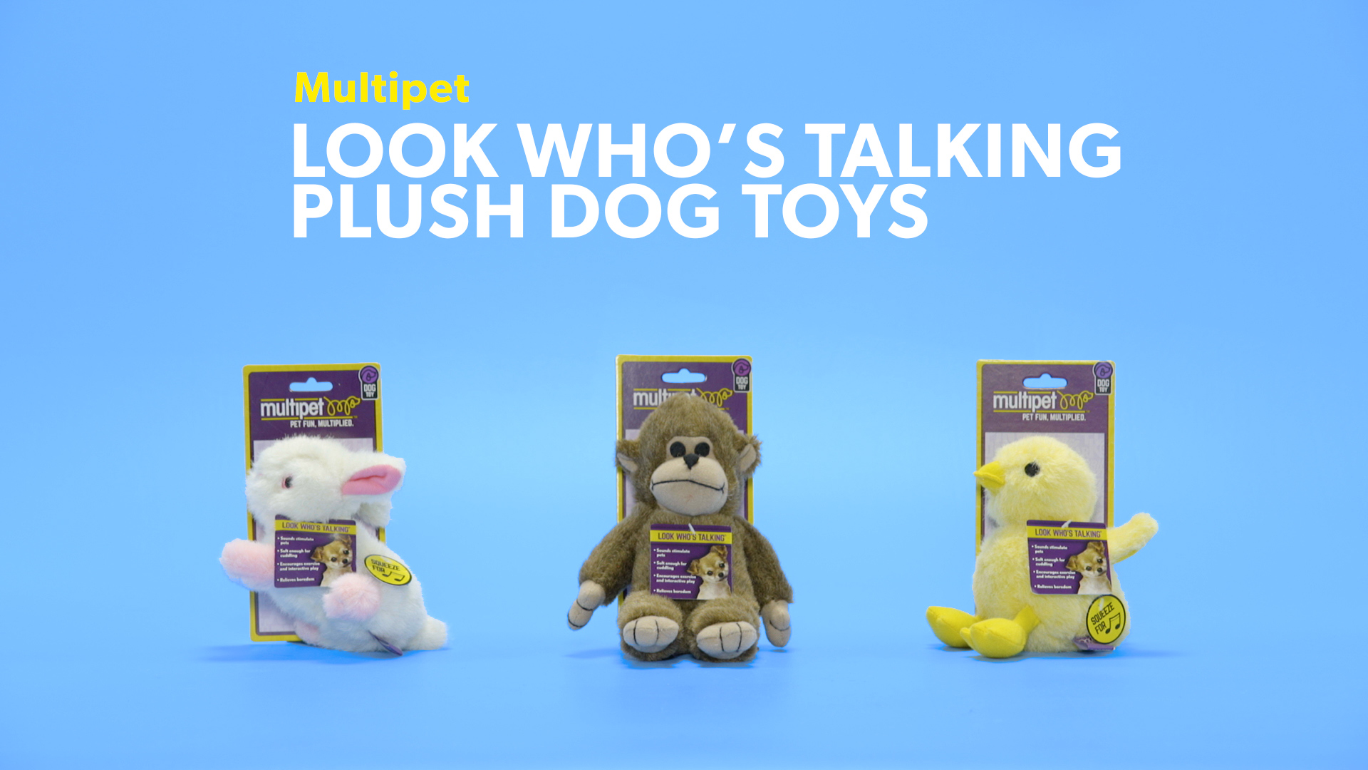 Multipet Look Who S Talking Dog Plush Dog Toy Chewy Com