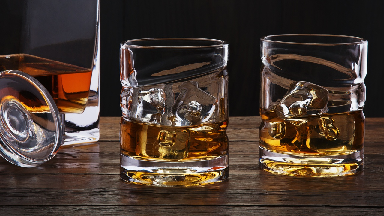 165a977ebea5 Helix Whiskey Glass  Spinning Whiskey   Spirits Glass