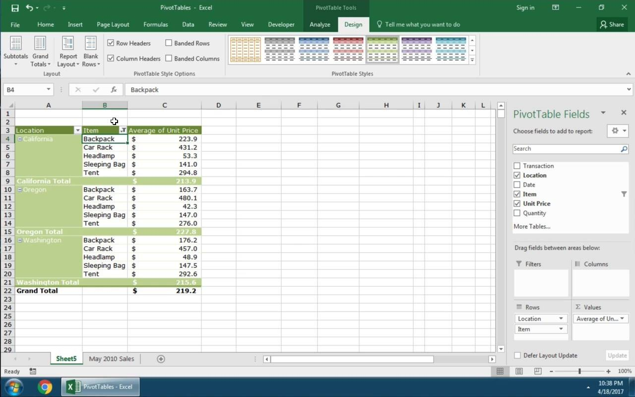 how to create a pivot table in excel 2010 mac