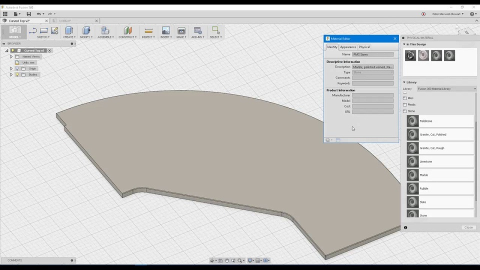 Fusion 360 - Applying and Mapping Custom Materials