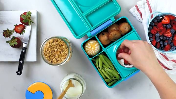 Omielife OmieBox Kids Bento Lunch Box with Insulated Thermos, Meadow