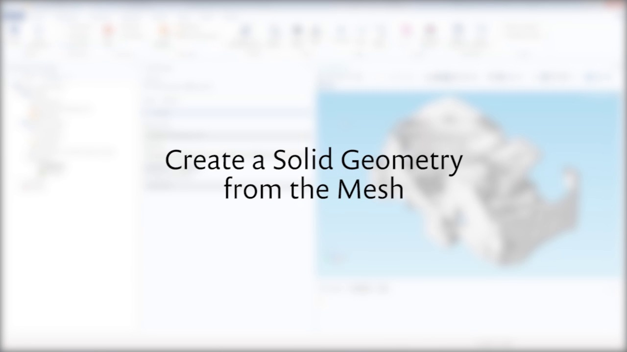 Tutorial_Creating a Geometry From an Imported Mesh