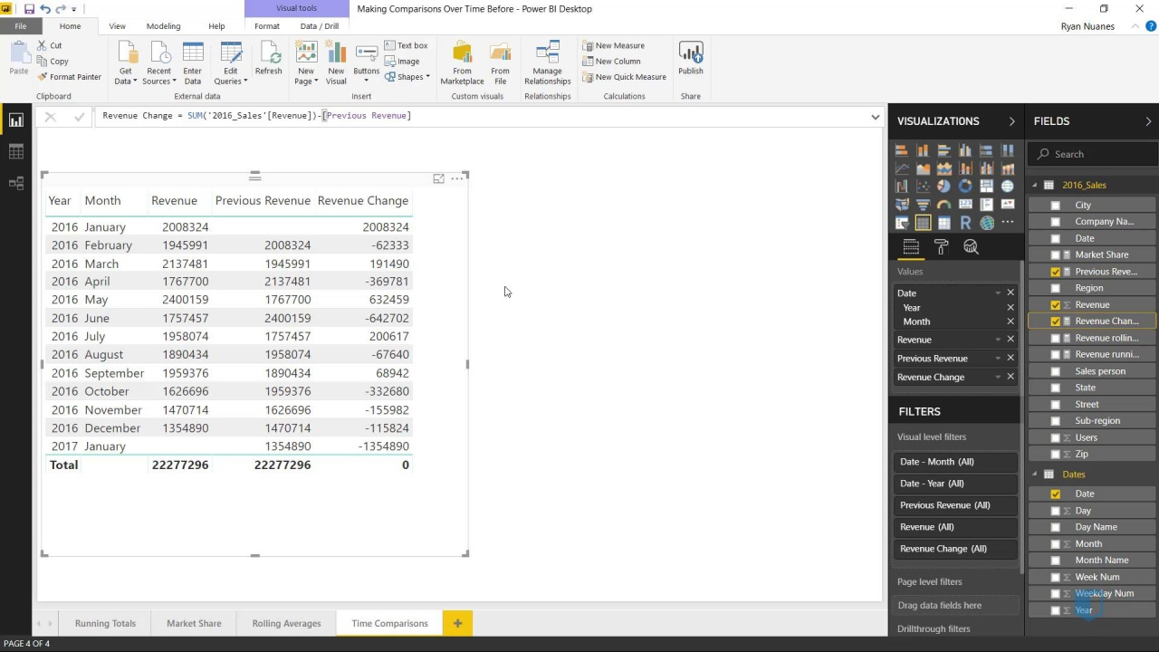 Comparing Values Over Time | Online Power BI Training
