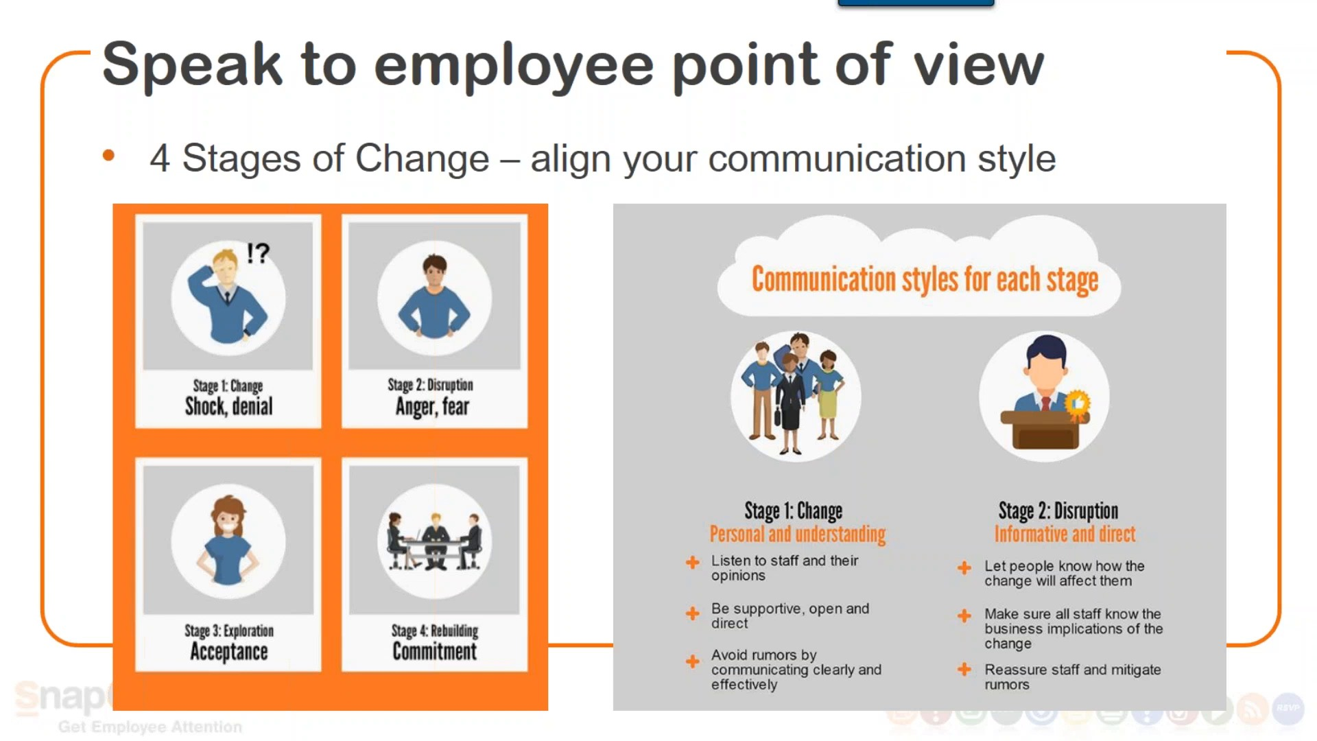 communicating change to employees tips tools snapcomms