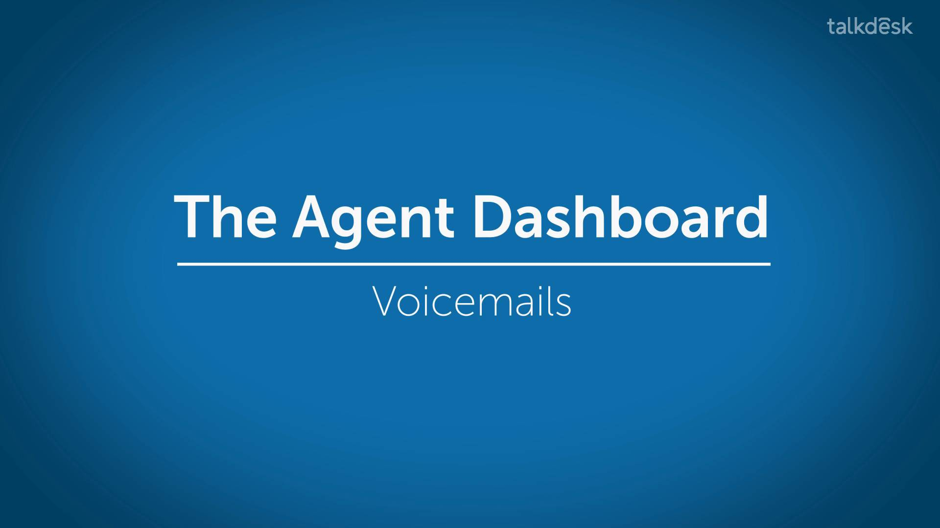 Voicemails Talkdesk Support