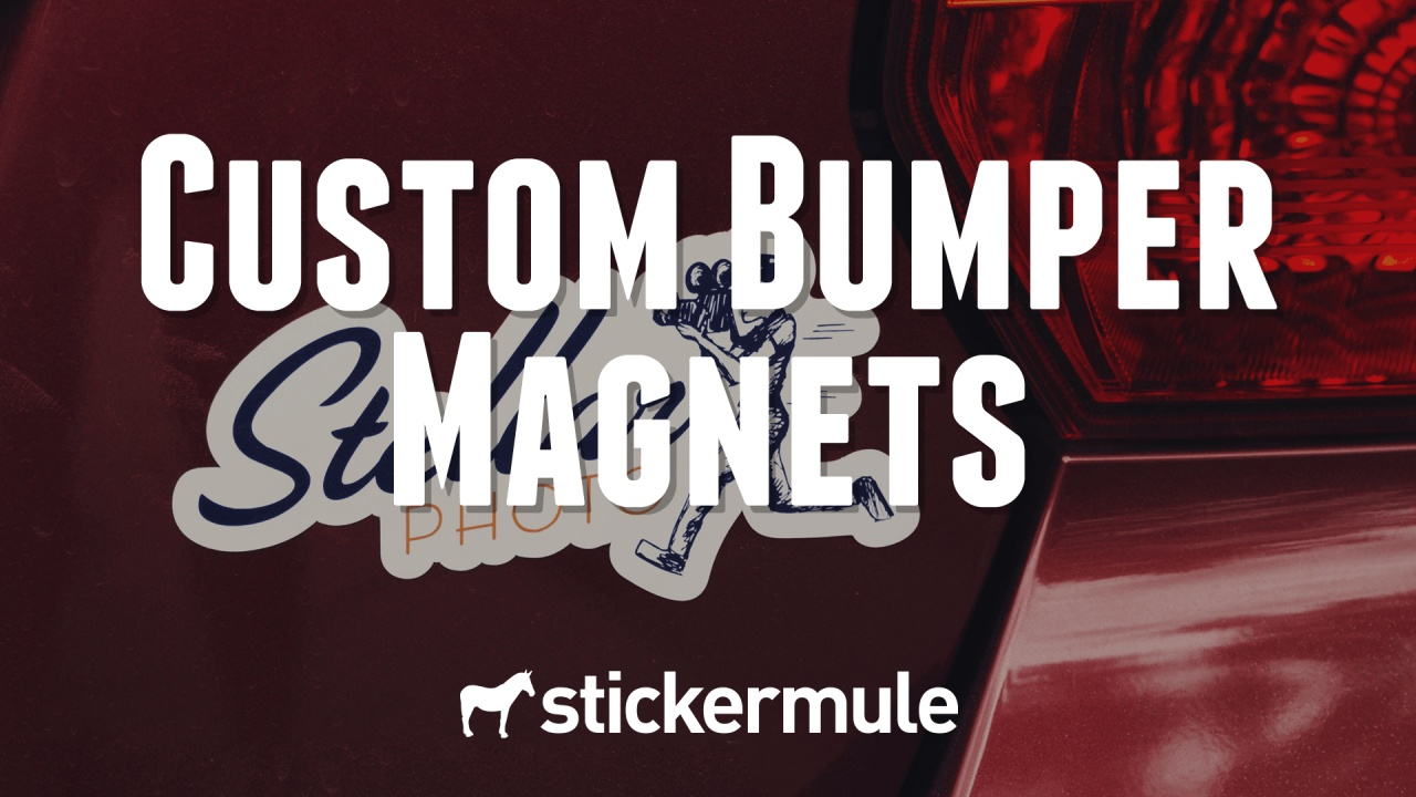 Custom bumper magnets