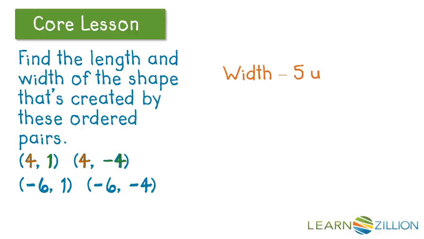 Find Perimeter And Area By Finding The Length Of Sides Using Coordinates   Learnzillion