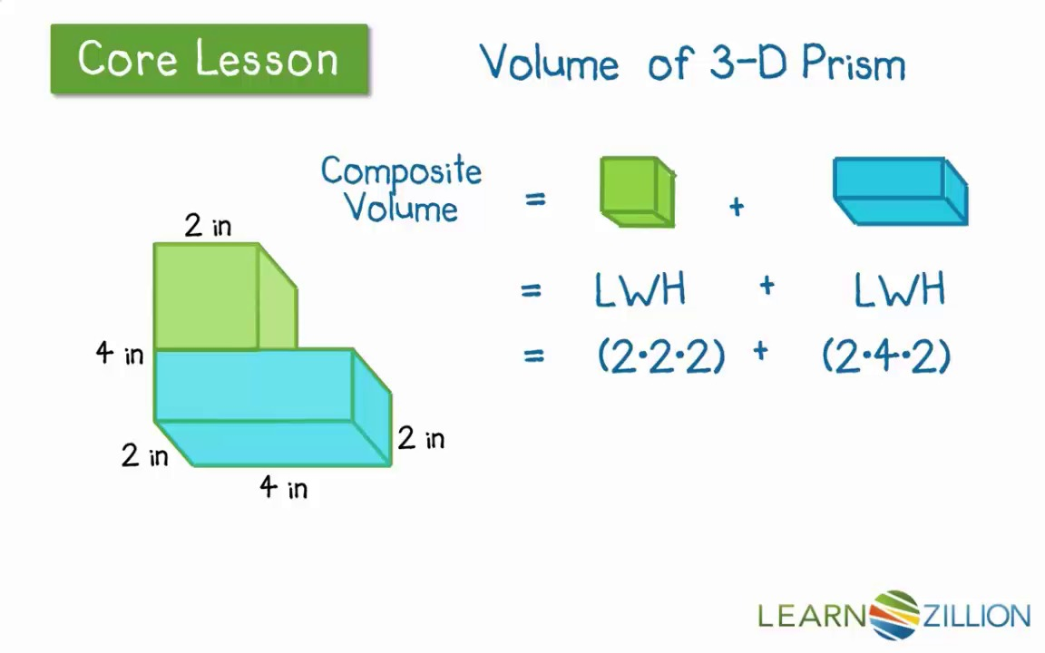 Workbooks solid shapes worksheets : Find the volume of complex rectangular prisms | LearnZillion