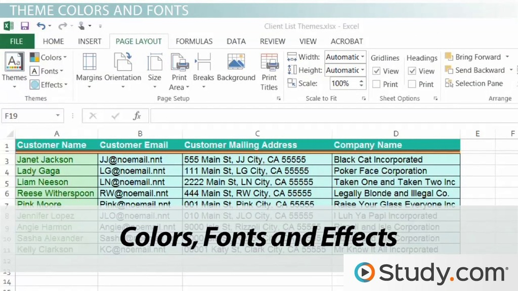 download themes for excel