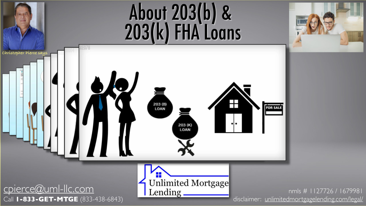 What Are 203(B) And 203(K) Loans? Unlimited Mortgage Lending
