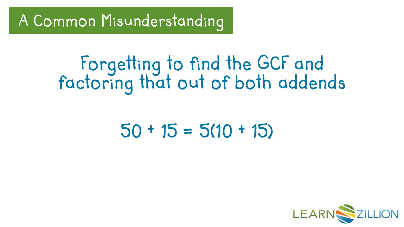 Find The Gcf Of Two Numbers Using Distributive Property. Video Thumbnail. Worksheet. Distributive Property Variables Worksheet At Mspartners.co