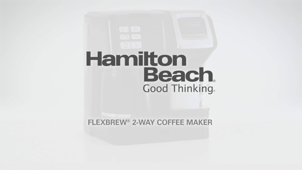 Hamilton Beach Flexbrew 2 Way Coffee Maker With 12 Cup Carafe Pod Switch No Ground Video Thumbnail
