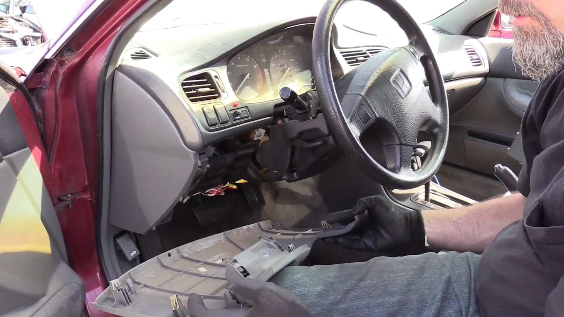 How To Remove A Honda Steering Column Accord 1997 2002 Odyssey Parts Diagram Also 2003