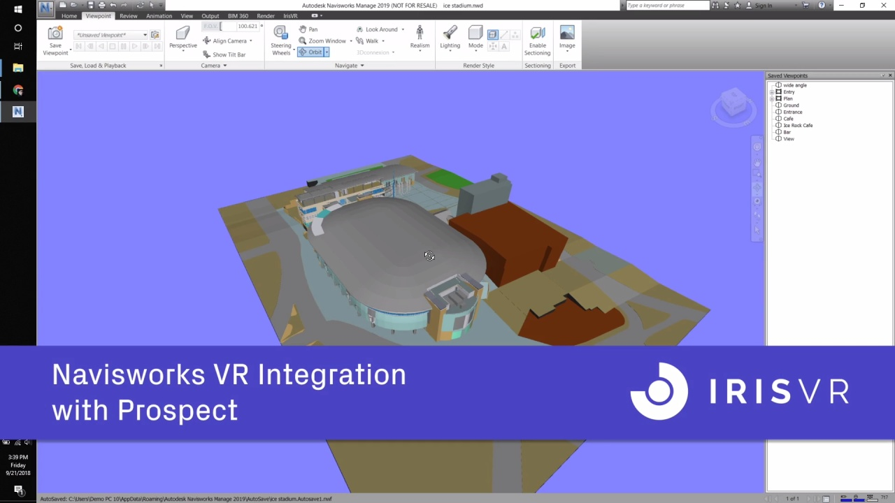 IrisVR + Navisworks BETA Plugin Overview