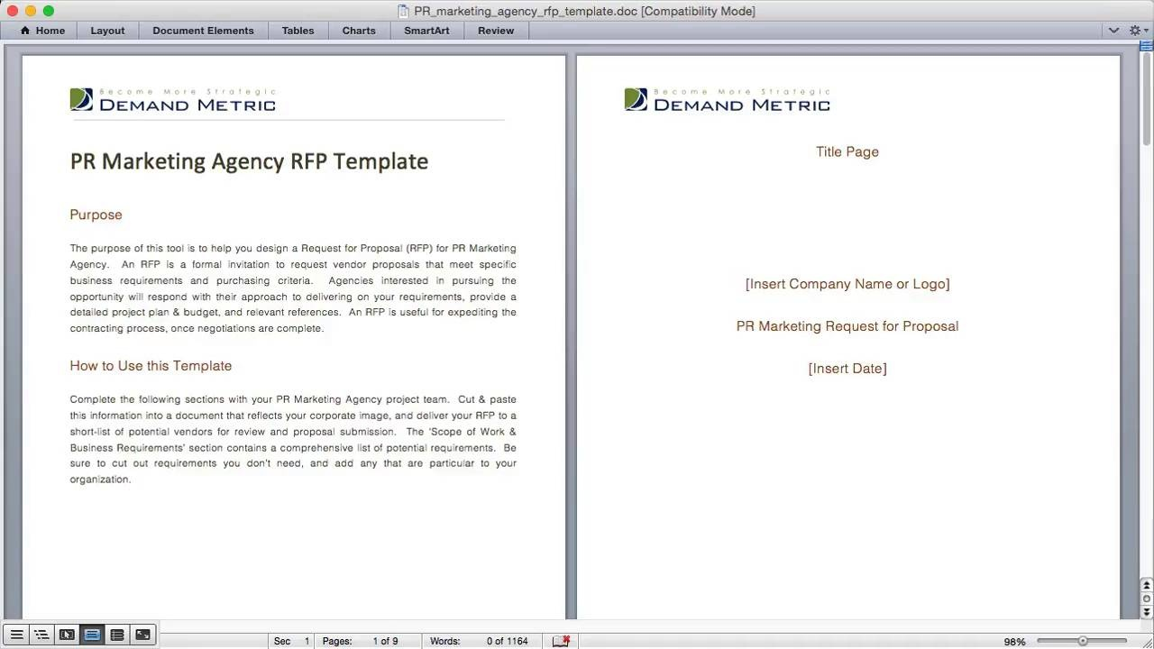 Pr Marketing Agency Rfp Template Demand Metric