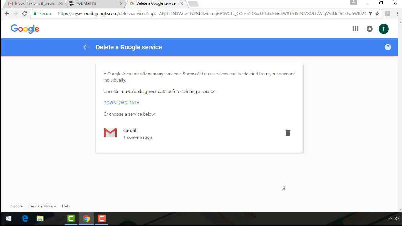 How to quickly delete your gmail account permanently ccuart Choice Image