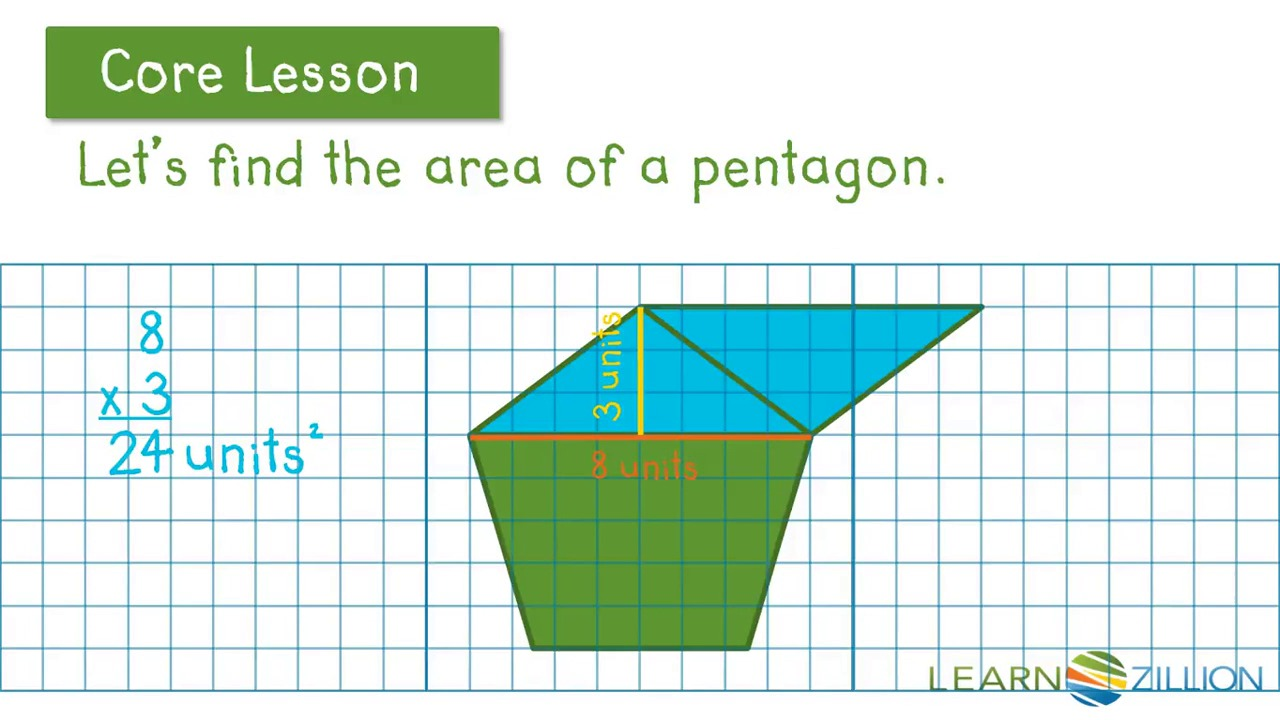 Find The Area Of Polygons By Decomposing Into Triangles, Rectangles,  Parallelograms, And Trapezoids  Learnzillion
