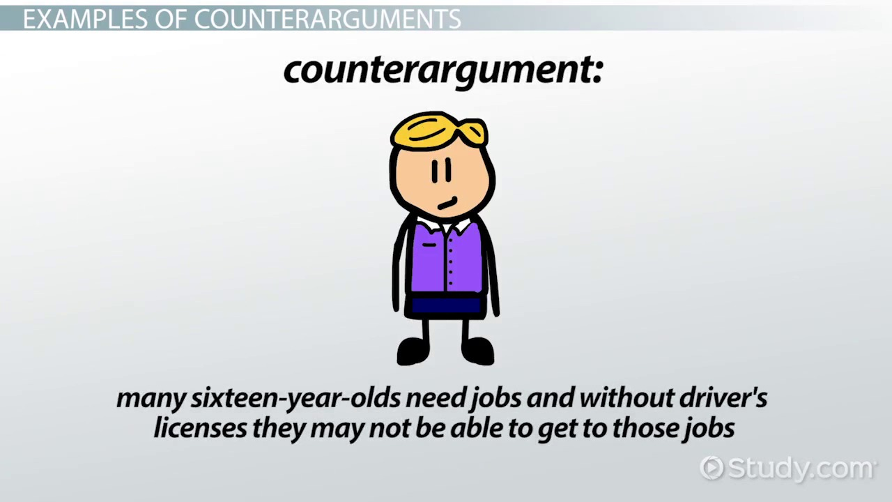 What Is A Counterargument?   Definition U0026 Examples   Video U0026 Lesson  Transcript | Study.com