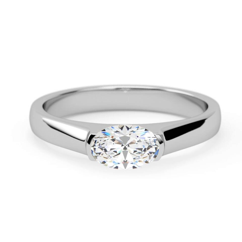 430310a45 Engagement Ring : attractive 4 claw solitaire oval brilliant : Samara ...